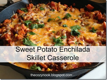 Sweet Potato Enchilada Skillet Casserole - The Cozy Nook