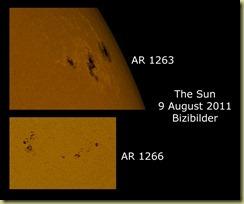 9 August 2011 Sun Spots