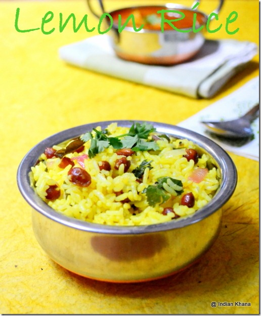 Lemon Rice Chitranna Rice Recipe
