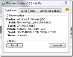 Windows 7 Daz loader Uninstall - sleep problem