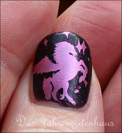 Nails Craze Fantasy Sky Pegasus Nail Art Pink Clouds 6