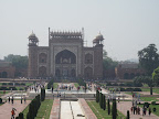 View of the entrance from the mausoleum level