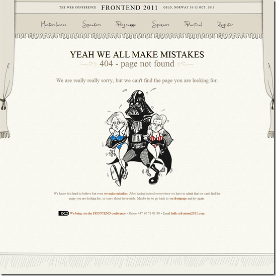404 Error Page Design - Frontend2011