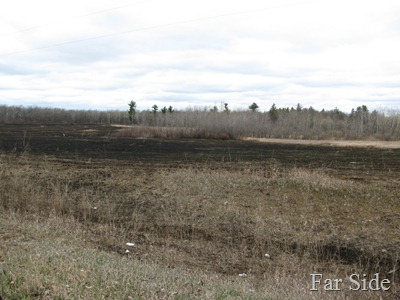 Fields burned just off the reservation