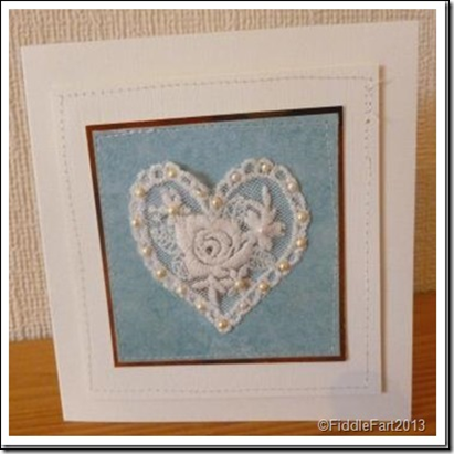 BRIDES SILVER SIXPENCE CARD