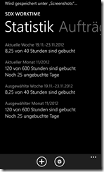 Windows Phone 8 SDX WorkTime
