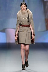 A model walks the runway at the The Emperor 1688 show during Fashion Forward at Madinat Jumeirah on April 11, 2014 in Dubai, United Arab Emirates.