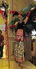 Casino cutie on stilts