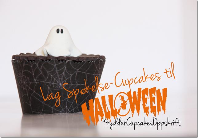 spøkelse cupcakes halloween kryddercupcakes oppskrift