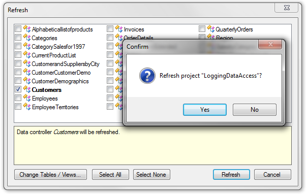 Refresh the Code On Time web application project to bring in the new columns into the web app.