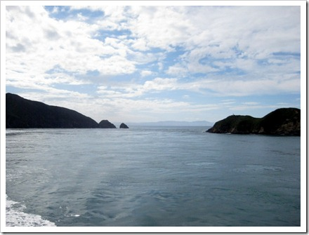 Coming through theheads into Queen Charlotte sounds.