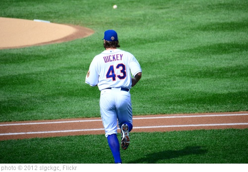 'R.A. Dickey Heading To The Mound' photo (c) 2012, slgckgc - license: http://creativecommons.org/licenses/by/2.0/