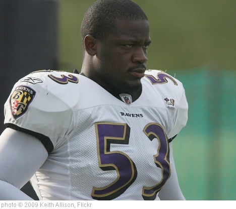 'Jameel McClain' photo (c) 2009, Keith Allison - license: http://creativecommons.org/licenses/by-sa/2.0/