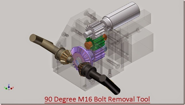 90 Degree M16 Bolt Removal Tool Design
