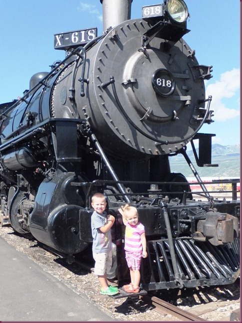 Connor and Chloe by Train