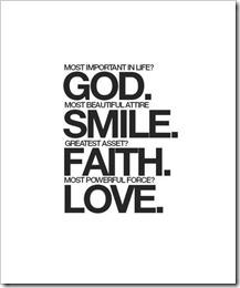 God smile faith love