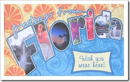 Florida vacation 3.2012 postcard made by elaine2