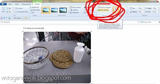 How to save an image in Windows Live Writer