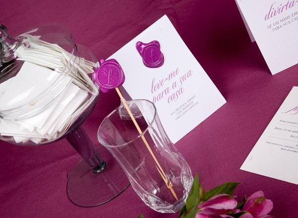 patit convite aniversário identidade personalizado rosa lacre de cera IMG_3822 (18)