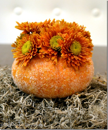miniature pumpkin vase--epsom salt