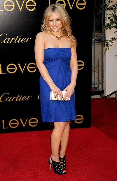 Actress/singer Hilary Duff arrives at the Cartier Charity Love B