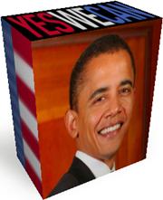 Scatola 3D Barack Obama ottenuta con Rizone 3D Box Creator