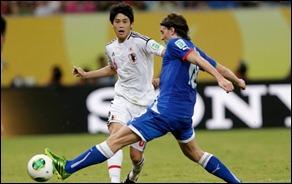 Uchida (6) elogiou a atuação do Japão diante da Itália (Foto: Reuters)
