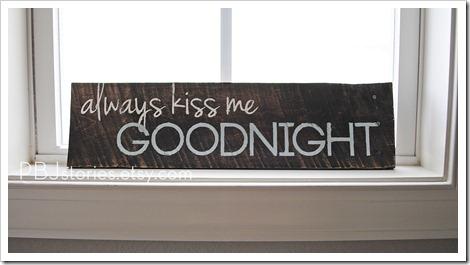 Always Kiss me Goodnight PBJstories.etsy.com