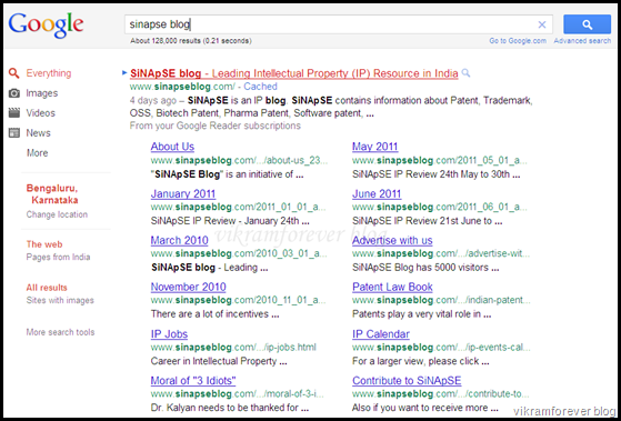 Google search results (new format)