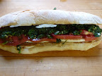 Caprese Sandwich with Spicy Broccoli Rabe