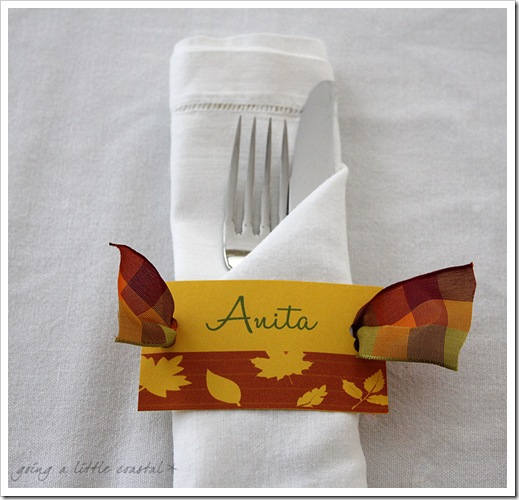 place setting copy