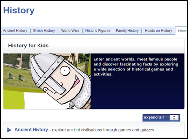 BBC History for Kids – BBC has amazing educational resources for all subjects, but their history section is particularly fabulous.  This site has games that help students explore ancient history, British history, world wars, and historical figures from tons of different time periods.