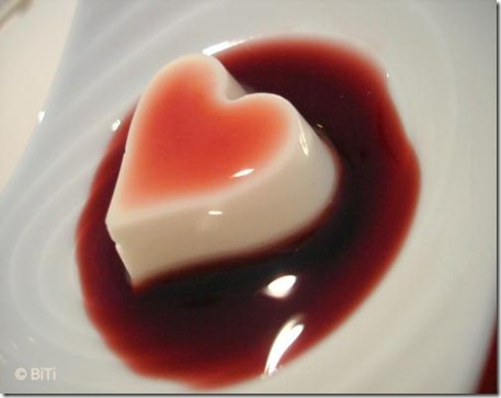 Panna Cotta for Valentine