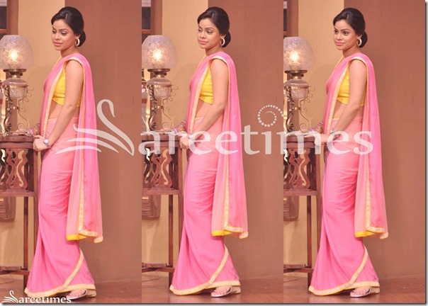 Pink_Plain_Saree