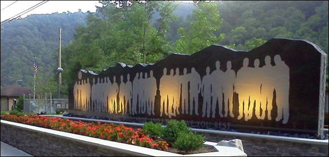 A memorial, unveiled in July 2012, dedicated to the 29 miners killed in an explosion at West Virginia's Upper Big Branch Mine in 2010. Photo: UBB Miners Memorial / Facebook