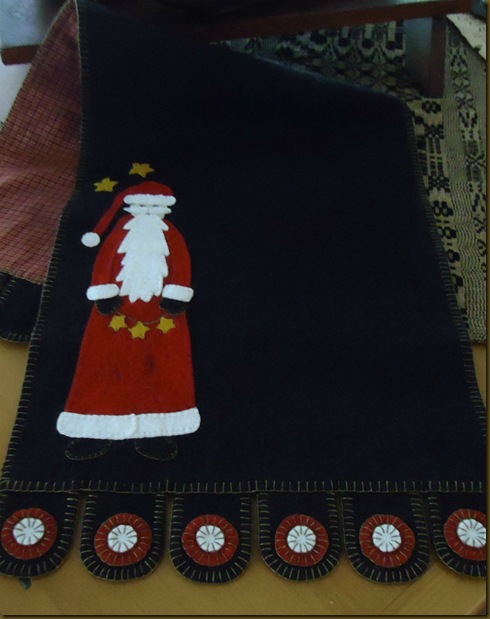Santa Penny Rug long