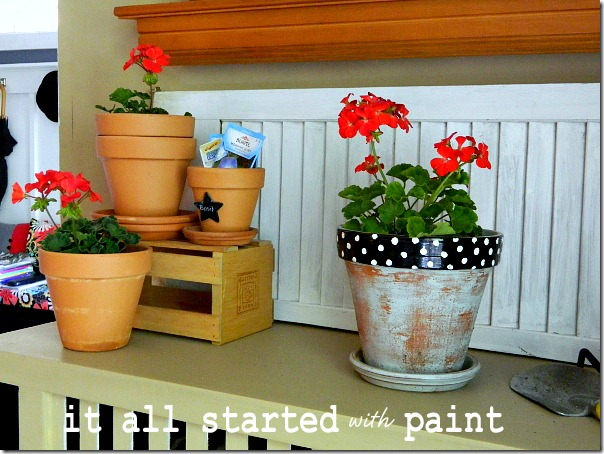 potting_bench_summer_mantel_geraniums