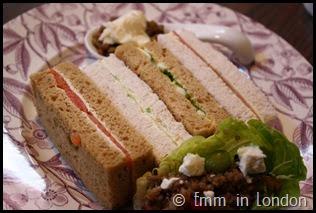 Gluten free sandwiches Pantry 108 Marylebone Hotel