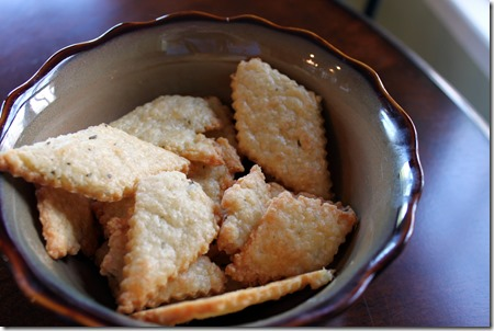 Gruyere and Rosemary Crackers 007