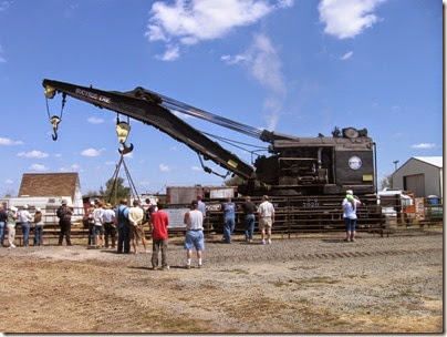 IMG_8053 1927 Bucyrus-Erie 160-Ton Steam Railway Derrick Crane SPMW #7020 at Antique Powerland in Brooks, Oregon on August 4, 2007