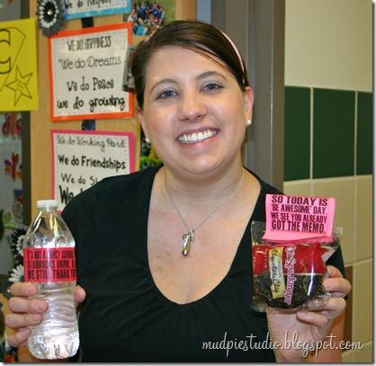 Teacher Appreciation Week - Muffin Breakfast - mudpiestudio@blogspot.com