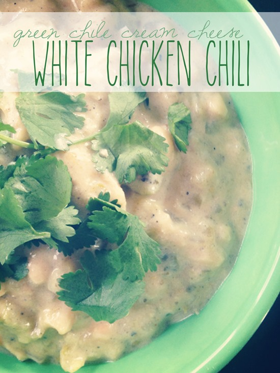 Green Chile Cream Cheese White Chicken Chili