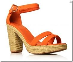 orange sandals