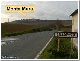 Vista del Monte Muru desde la salida de Abárzuza