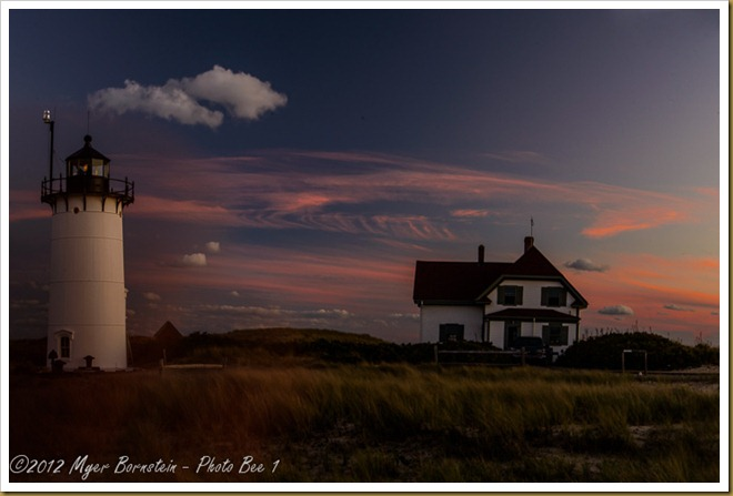 Sunset at Race Point Light and Keepers House