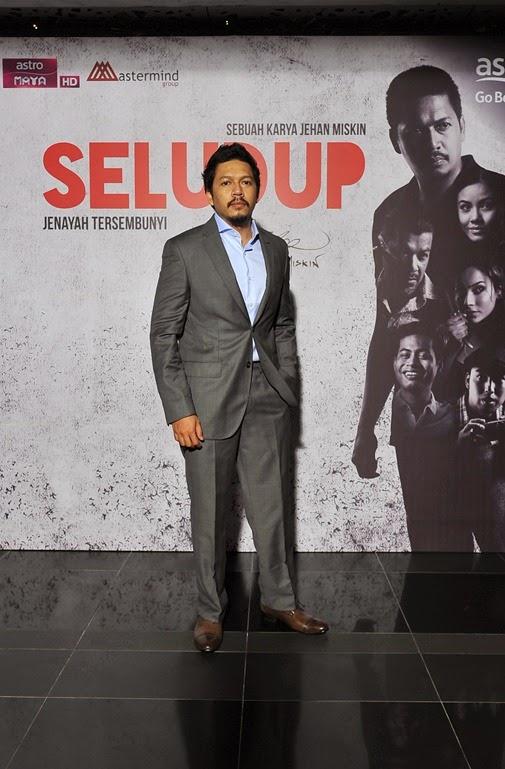 Pekin Ibrahim memain watak Amran dalam drama siri SELUDUP
