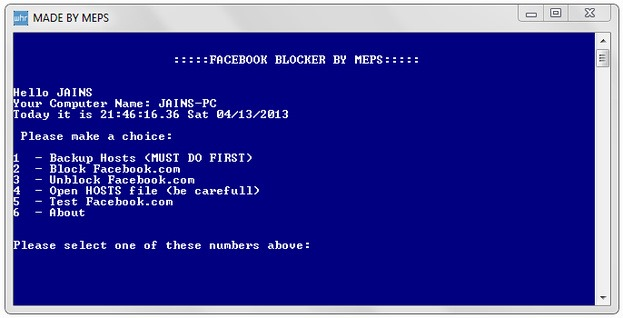 facebook-blocker-utility