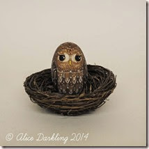 Geoffrey the Tawny Owl hand painted wooden egg