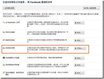 Facebook不顯示好友名單-1?