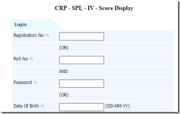 IBPS So Score Card